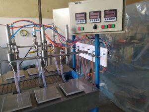 دستگاه پرکن مایعات رقیق و غلیظ پمپی به صورت اتوماتیک و نیمه اتوماتیک